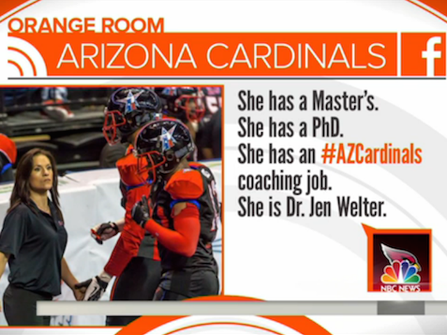 Dr. Jen Welter Joins Arizona Cardinals as First Female NFL Coach
