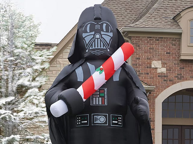 A 16-Foot Tall Inflatable Vader Is Holiday Decorating Done Easy