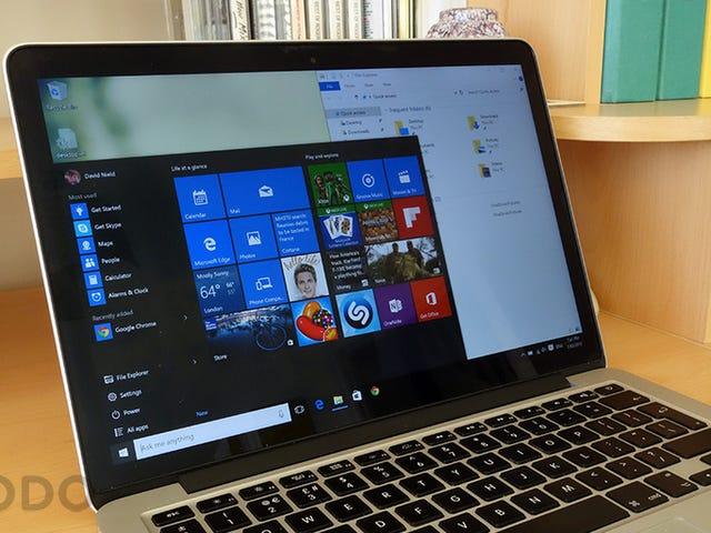 Windows 10,在Mac上