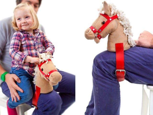 Rem denne pony hoved til din ben for mere autentiske Horsey Rides