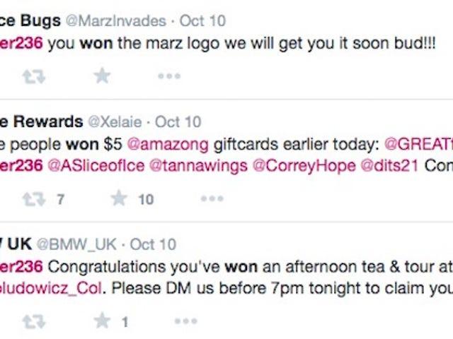 आई वान्ट ए बॉट दैट वोन ट्विटर प्रतियोगिताएं
