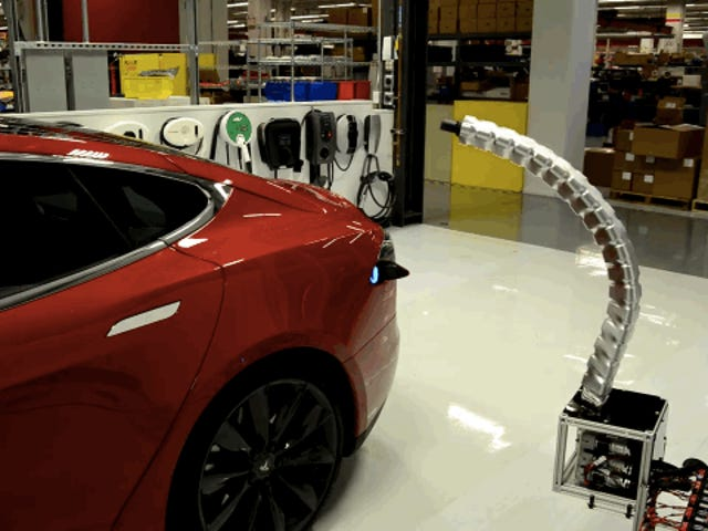 Good God Tesla's Robot Snake Charger Is Creeping Me The Hell Out