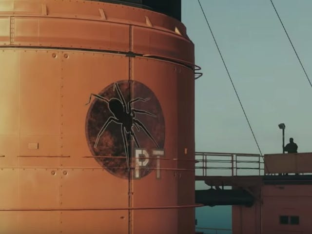 That's an interesting custom Mother Base emblem in the latest Metal Gear Solid V demo video…