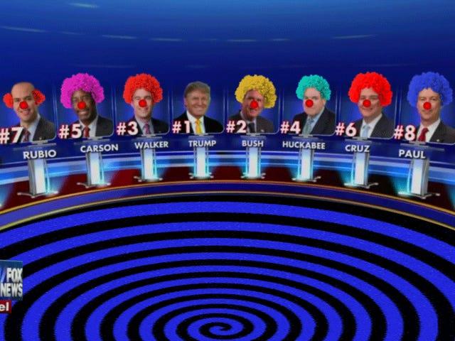 Jezebel idzie do Clown Town: Liveblogging the Republican Debates