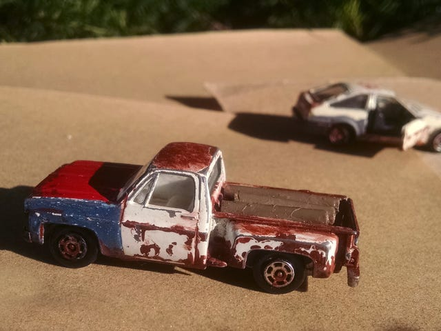 Rusty Chevy Pickup and Hachi-Roku