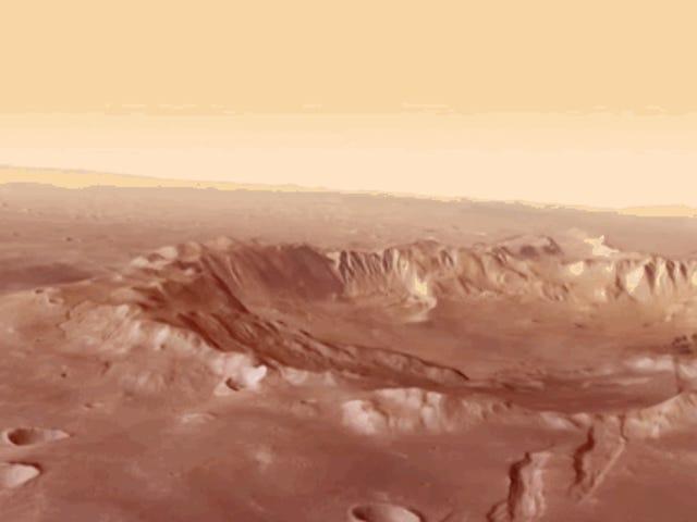 Flyga över Mars i låg höjd med denna ESA-simulering