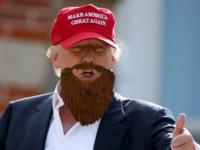 Donald Trump จะไม่ใช่ประธานาธิบดีคนต่อไปของเราเพราะเขาไม่มีเครา