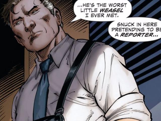 El viejo jefe de Superman piensa que es una comadreja