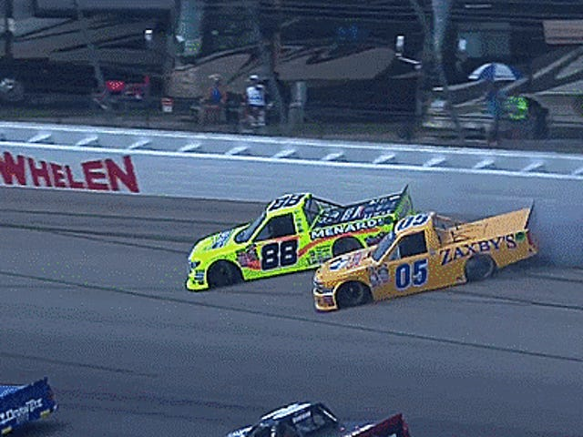 NASCAR Trucks Drifting Side By Side Is The Best Double-Save Of The Year