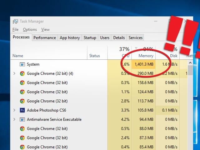 "Mengapa Proses ""Sistem"" Windows 10 Menggunakan RAM Jadi Banyak?"