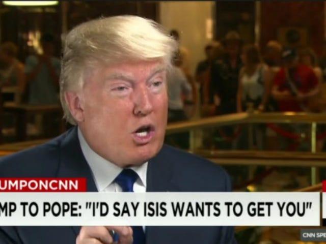 Donald Trump ให้คำแนะนำแก่สมเด็จพระสันตะปาปาฟรานซิส