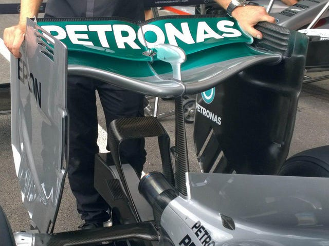 New Mercedes Rear Wing