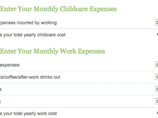 Calcola quanto costerà essere un genitore casalingo