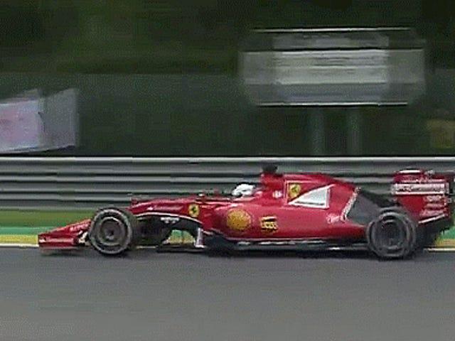 Le Grand Prix de Belgique de Sebastian Vettel se termine par un [pneu] Bang