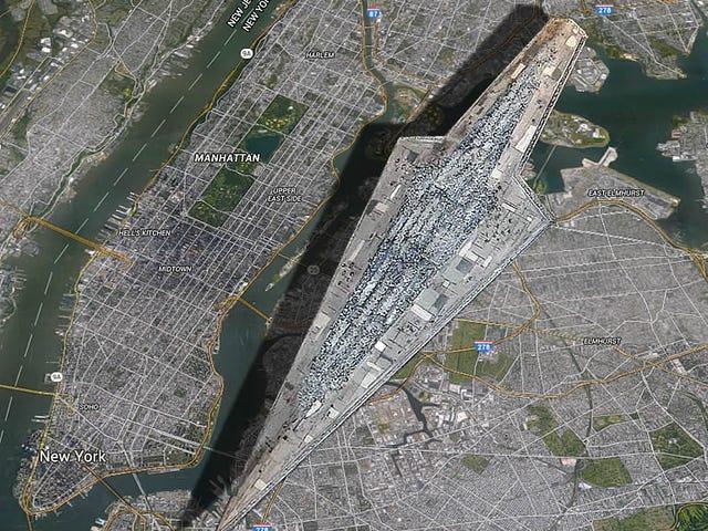 Super Star hävittäjä on Manhattanin kokoinen
