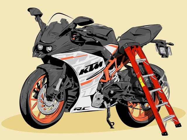 Guía de la persona corta para montar en moto