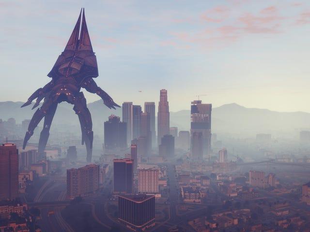 <i>GTA V</i> Mod byter oskadliga blimps för <i>Mass Effect</i> Reapers