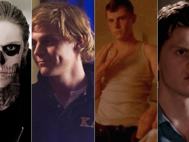 Evan Peters' Boneability on American Horror Story, Ranked