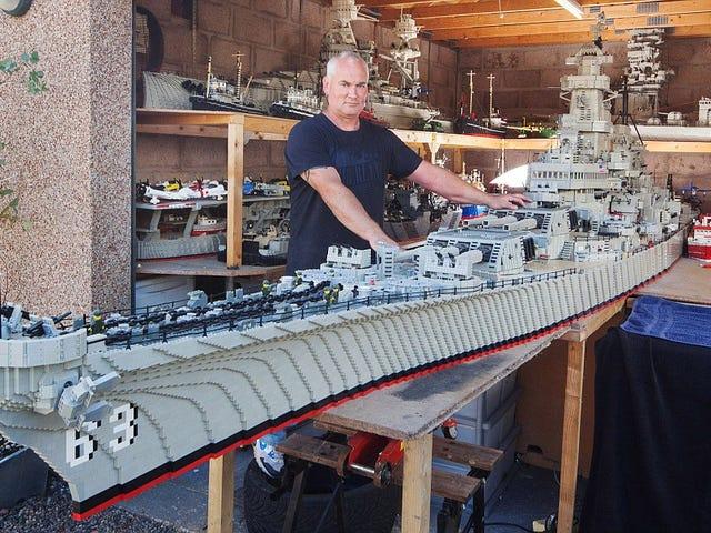 ชาวประมงใช้อาคาร 3 ปีขนาดใหญ่ยาว 24 ฟุตเลโก้ USS Missouri