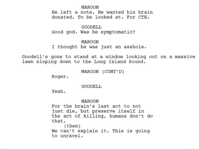 Her er en umulig dum scene, der blev skåret fra hjernerystelsesfilmen