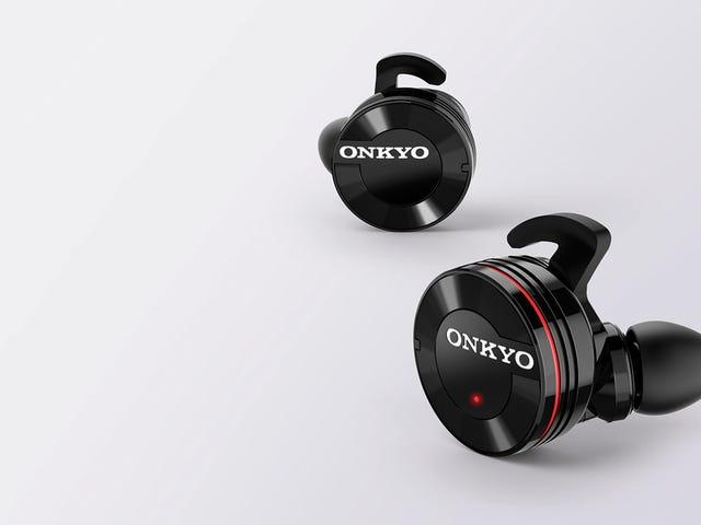 Onkyo's nieuwe draadloze oordopjes zien er hilarisch enorm uit