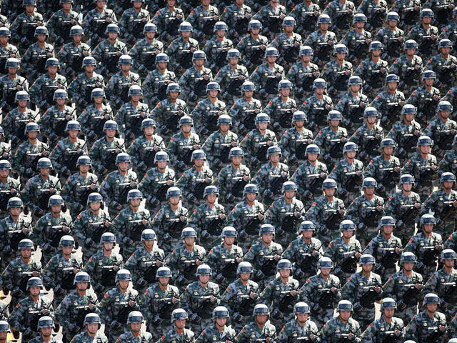 Photos of China's parade commemorating WWII shows off its full military force