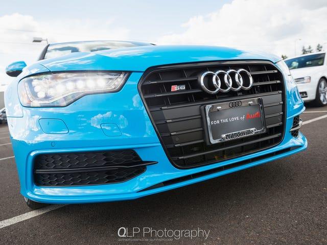 I Foton: Exklusiv Riviera Blue Audi S6