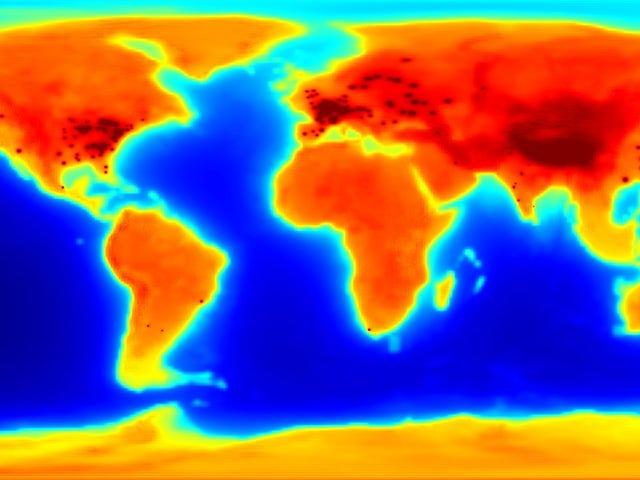 Bản đồ Antineutrino phát sáng cho thấy Trái đất phóng xạ như thế nào