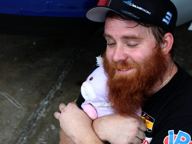 Celebrate World Beard Day With A Hug And An MX-5 Race Car