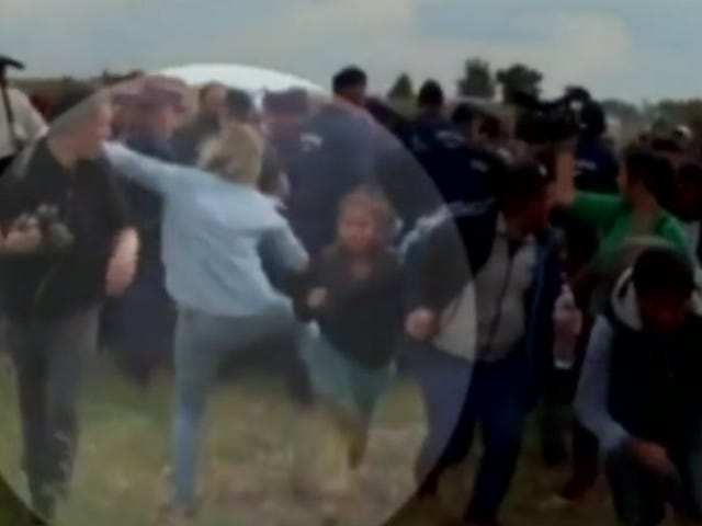 Hungarian Camerawoman Fired for Kicking and Tripping Migrants Running from Police