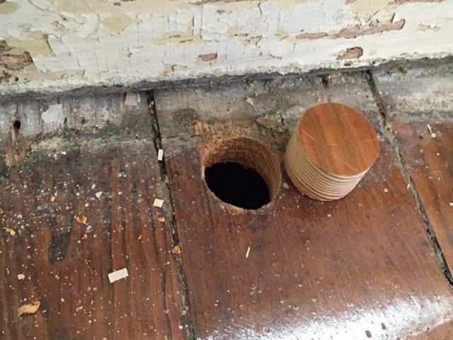 Rescue Old Wood Floors by Plugging Them Up