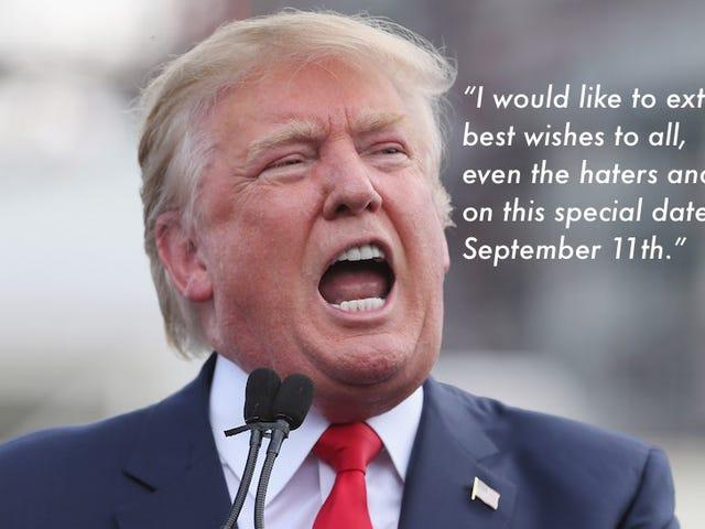 Hey Donald, hvorfor har du slettet din Super Chill 9/11 Tweet?