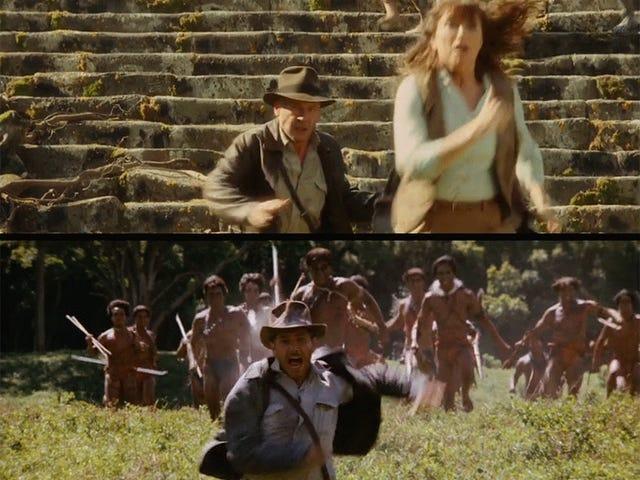 How visually similar Indiana Jones4 was to the original movies