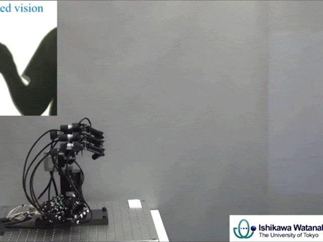 หุ่นยนต์กรรไกรหิน - กระดาษ - เร็วสุดมีอัตราการชนะ 100%