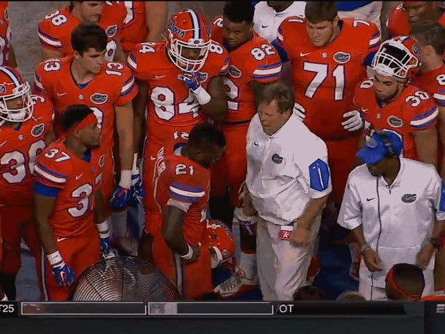 Florida Antrenör Jim McElwain Bir Oyuncu Havaya Uçurdukları için Özür diliyor