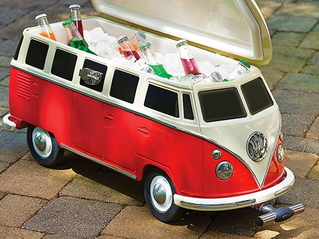 Fill This Volkswagen Van Cooler With Snapple and Other Hippy Drinks