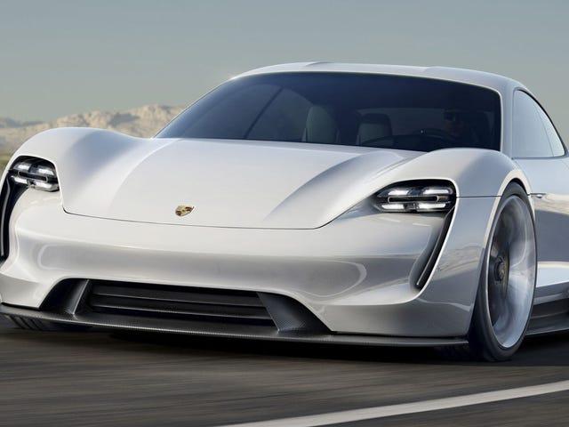 El Porsche Mission E recarga su batería más rápido que un Tesla, y es una preciosidad