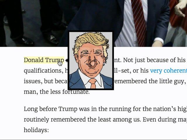 우리의 새로운 도널드 트럼프 크롬 익스텐션을 사용하여 미국을 다시 한 번 축복하십시오