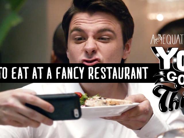 Slik spiser du på en fancy restaurant