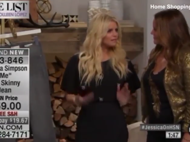 A Lot of HSN Viewers Thought Jessica Simpson Was Drunkenly Selling Her Clothes Last Night