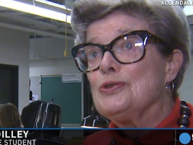 86 años de edad, ama la universidad tanto que ha tomado la misma clase durante 36 años