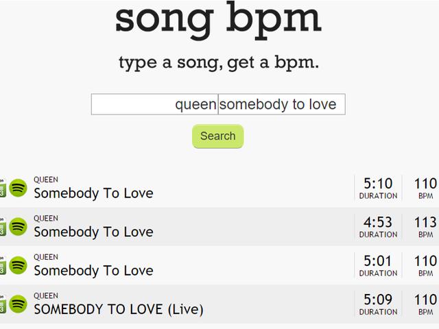 BPM da música encontra o BPM da sua música com apenas um artista e título
