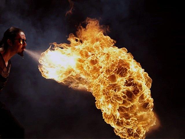 Огненное дыхание во время пули выглядит так плохо