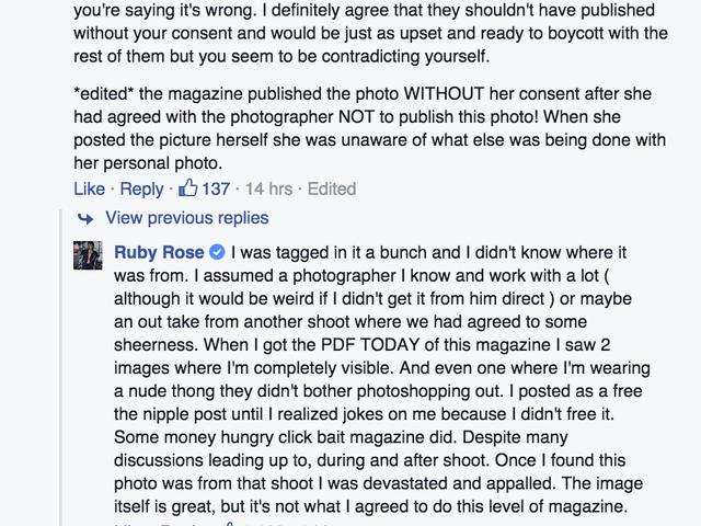 Ruby Rose Lambasts Mag untuk Menggunakan Foto Bogel Tanpa Izinnya dalam 'Girl Power' Issue