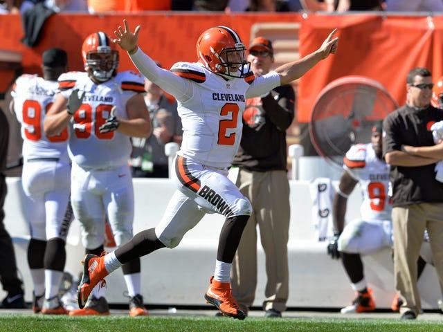 Browns envían a Johnny Manziel de vuelta al banco, por alguna razón