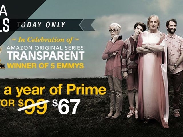 Today's Your Only Chance to Save $32 on a Year of Amazon Prime