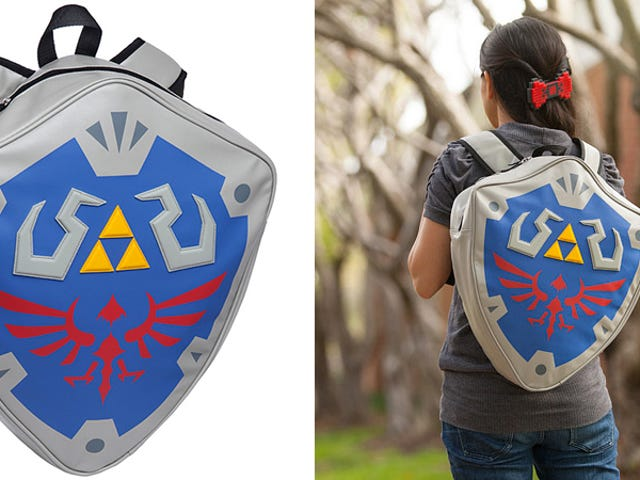 Legend of Zelda Shield Backpack Must Be How Link Carries All That Gear