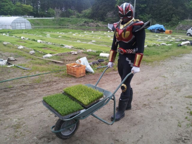 In Japan, There's a Superhero Who...Plants Rice
