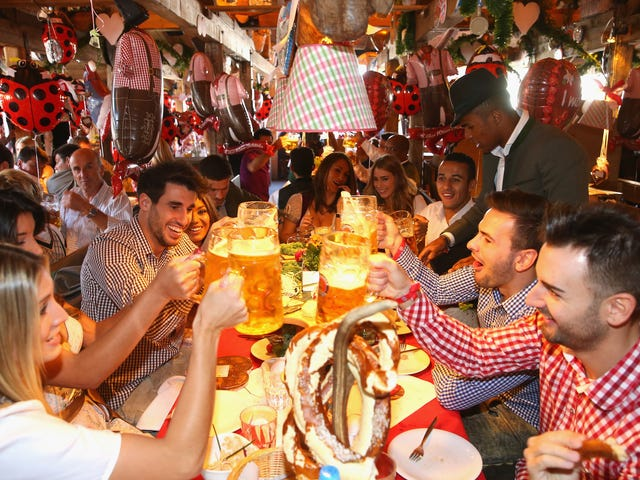 Please Enjoy Bayern Munich Dressed Up And Boozing For Oktoberfest