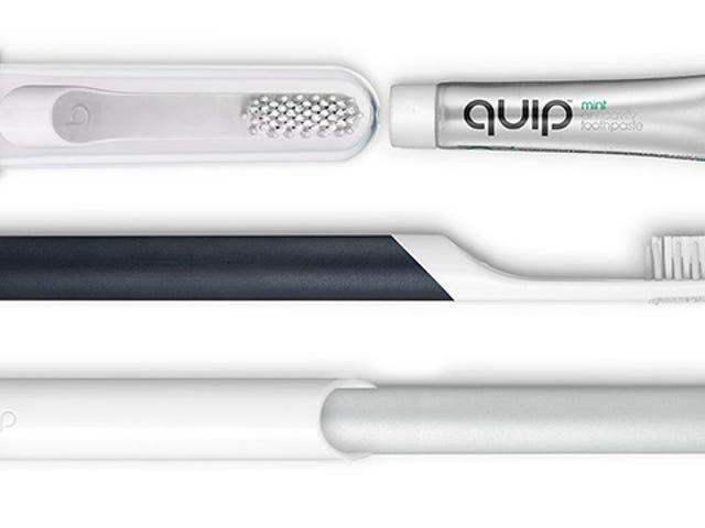 Quip电动牙刷+免费3个月刷头和牙膏替换物